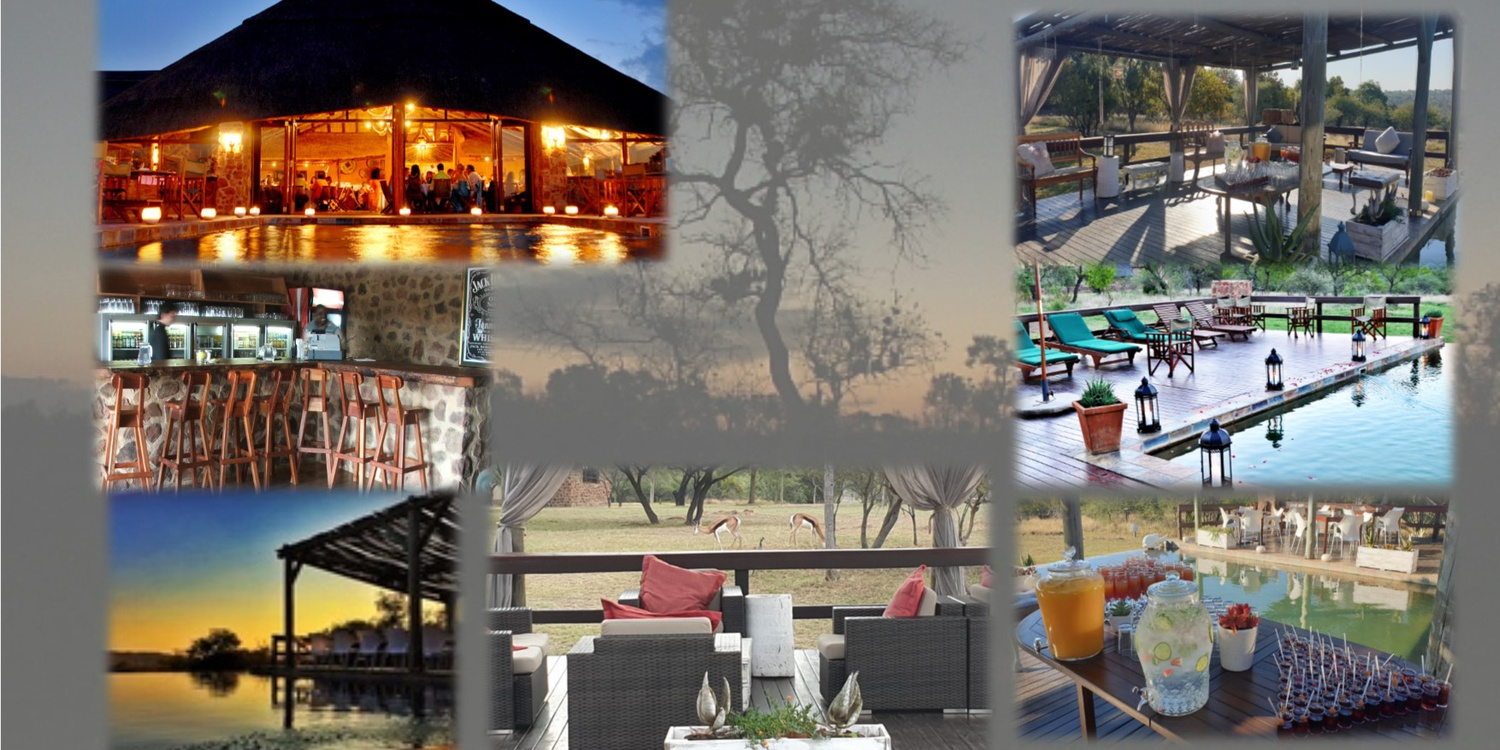 game lodge, restaurant, bar, food, pool deck, Mangwa Valley, Dinokeng, Cocktails