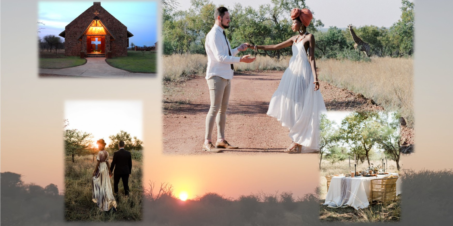 bush wedding, mangwa valley, game lodge, wildlife, chapel, Dinokeng, love, married, big five